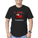 I Love Red Tractors Men's Fitted T-Shirt (dark)