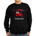 I Love Red Tractors Sweatshirt (dark)