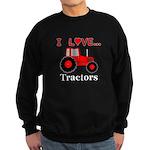 I Love Red Tractors Sweatshirt (dark)