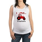 I Love Red Tractors Maternity Tank Top