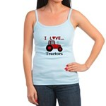 I Love Red Tractors Jr. Spaghetti Tank