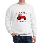 I Love Red Tractors Sweatshirt