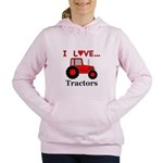 I Love Red Tractors Women's Hooded Sweatshirt