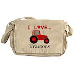 I Love Red Tractors Messenger Bag