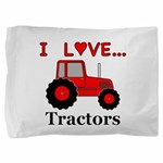I Love Red Tractors Pillow Sham