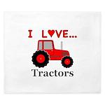 I Love Red Tractors King Duvet