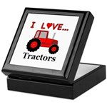 I Love Red Tractors Keepsake Box