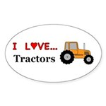 I Love Tractors Sticker (Oval 50 pk)