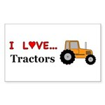 I Love Tractors Sticker (Rectangle 50 pk)