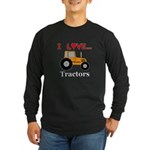 I Love Tractors Long Sleeve Dark T-Shirt