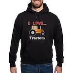 I Love Tractors Hoodie (dark)