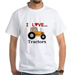 I Love Tractors White T-Shirt