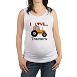 I Love Tractors Maternity Tank Top