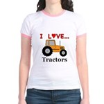 I Love Tractors Jr. Ringer T-Shirt