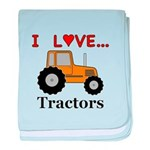 I Love Tractors baby blanket