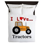I Love Tractors Queen Duvet
