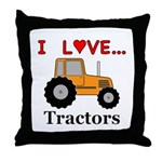I Love Tractors Throw Pillow