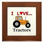 I Love Tractors Framed Tile