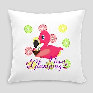 Glamping Flamingo Everyday Pillow