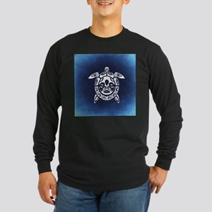 Navy & White Abstract Shel Long Sleeve T-Shirt