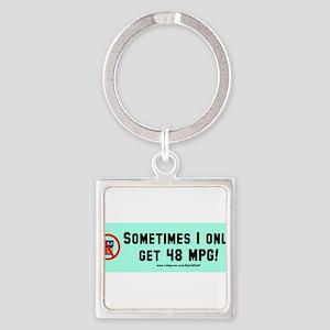 2-Prius Envy bumper sticker 48 MPG Keychains