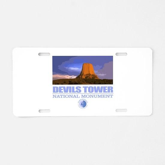 Devils Tower Aluminum License Plate