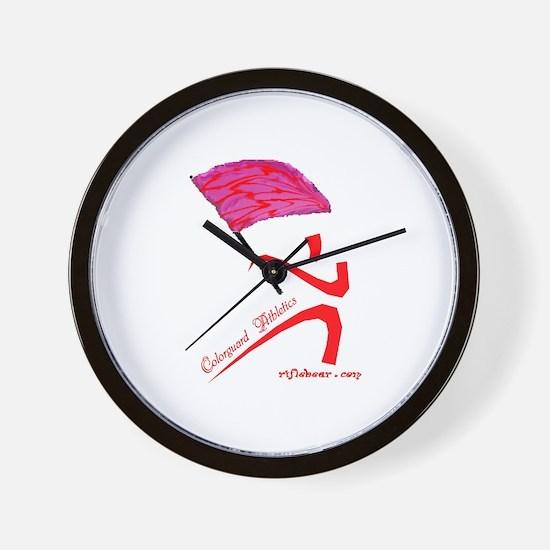 Colorguard Athletics Flag Wall Clock
