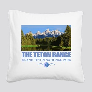 Grand Teton National Park Square Canvas Pillow