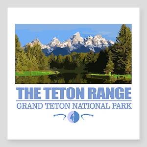 "Grand Teton National Park Square Car Magnet 3"" x 3"