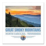 Great smoky mountains national park Square Car Magnets