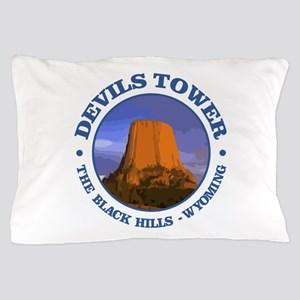 Devils Tower (rd) Pillow Case