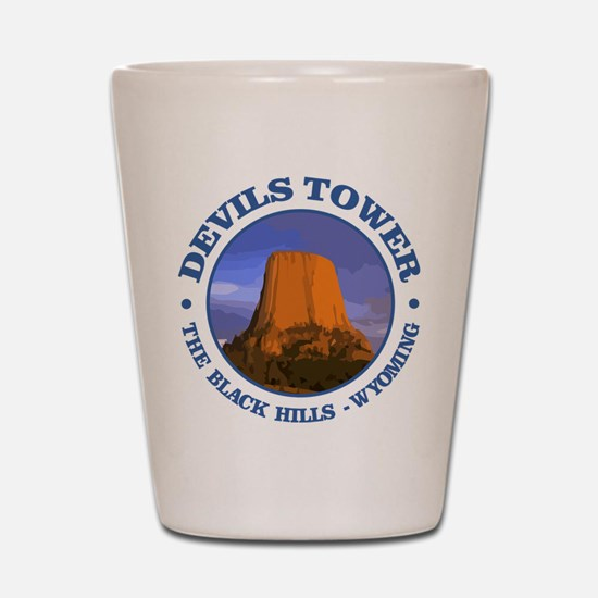 Devils Tower (rd) Shot Glass
