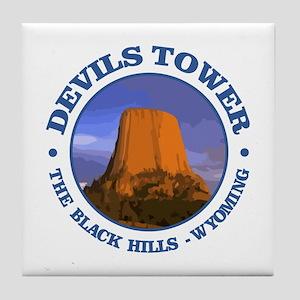 Devils Tower (rd) Tile Coaster