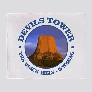 Devils Tower (rd) Throw Blanket