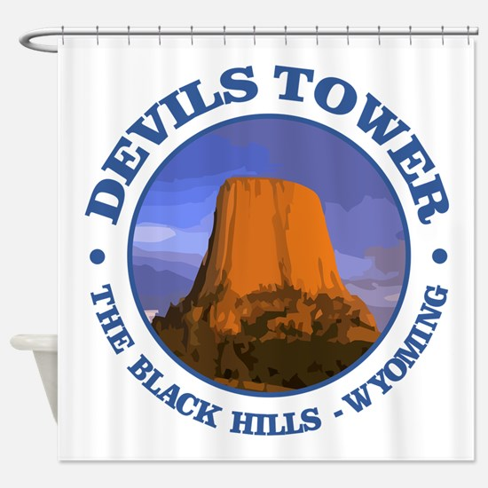Devils Tower (rd) Shower Curtain