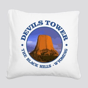 Devils Tower (rd) Square Canvas Pillow