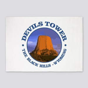 Devils Tower (rd) 5'x7'Area Rug
