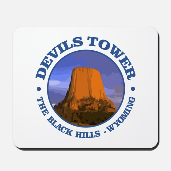 Devils Tower (rd) Mousepad