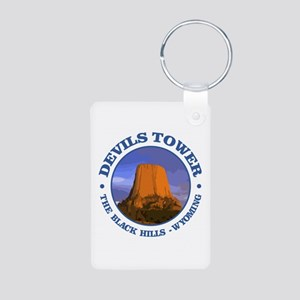 Devils Tower (rd) Keychains