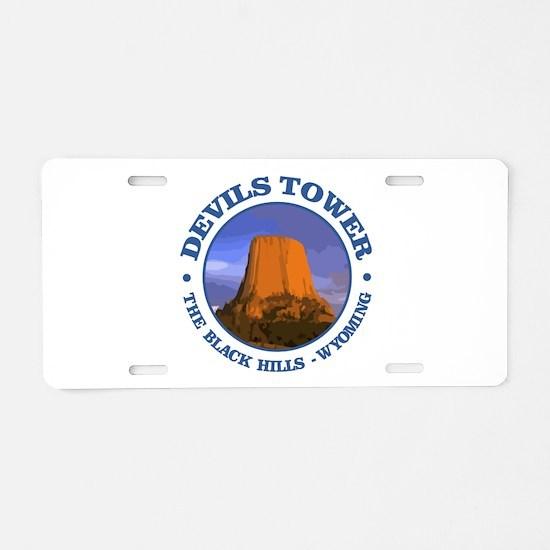 Devils Tower (rd) Aluminum License Plate