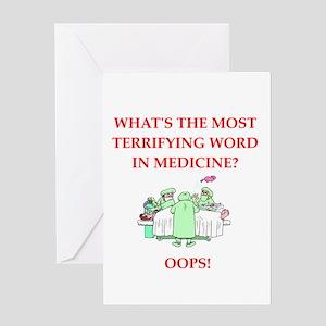 Doctor joke Greeting Cards