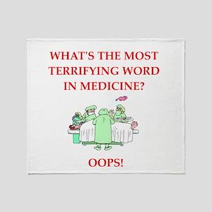 Doctor joke Throw Blanket