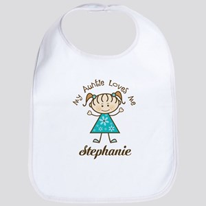 My Auntie Loves Me Personalized Baby Bib