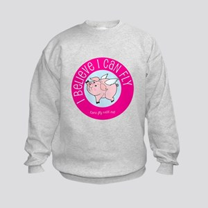 Believe Flying Pig Sweatshirt