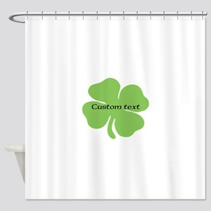 Custom St. Patrick's four leaf clover Shower Curta