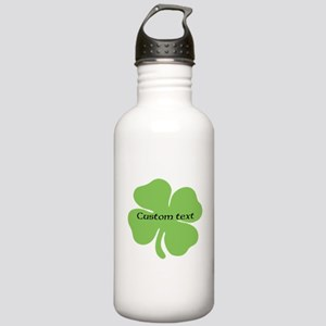 Custom St. Patrick's four leaf clover Water Bottle