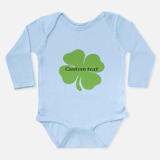 Custom St. Patrick's four leaf clover Body Suit
