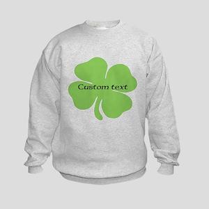 Custom St. Patrick's four leaf clover Sweatshirt