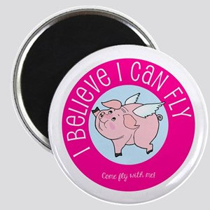 Believe Flying Pig Magnets