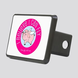 Believe Flying Pig Rectangular Hitch Cover